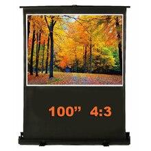 100 дюймов 4:3 белый волокно из ткани стекло портативный напольный экран напольный проекционный экран вытяжной проектор экран