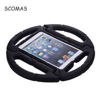 SCOMAS Case For Ipad 2 3 4 Child EVA Shockproof Steering Wheel Protective Tablet Stand Safe