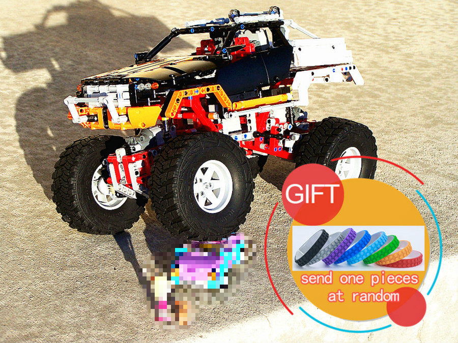 20014 1386Pcs Technical Series Ultimate Version The Remote-Control Four-Wheel Drive Off-road Vehicles Building Blocks 9398 lepin starpad for xinyuan off road motorcycle accessories x2 x2x off road vehicles after the fender white