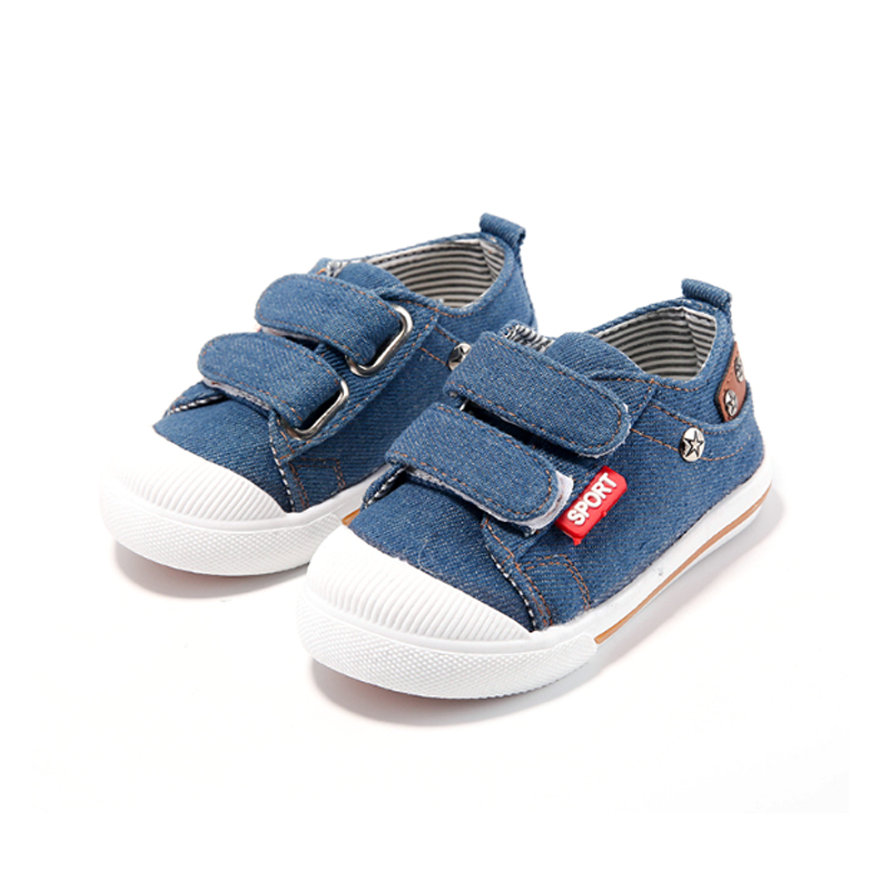 2018 New Children Canvas Shoes Spring Kids Soft Sneakers for Girls Breathable Sneakers for Boys CowBoy Toddler Shoes 21-30