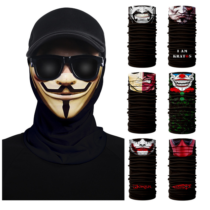 Windproof Bicycle Mask Neoprene Neck Warm Half Face Dust Protect Winter Sport Cycling Bike Accessories Deadpool