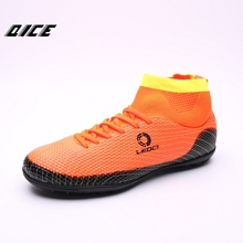 2017 High Ankle Men Football Shoes Long Spikers Soccer Boots Cleats Trainer Outdoor Sport Sneaker Hard-Wearing Soccer Shoes