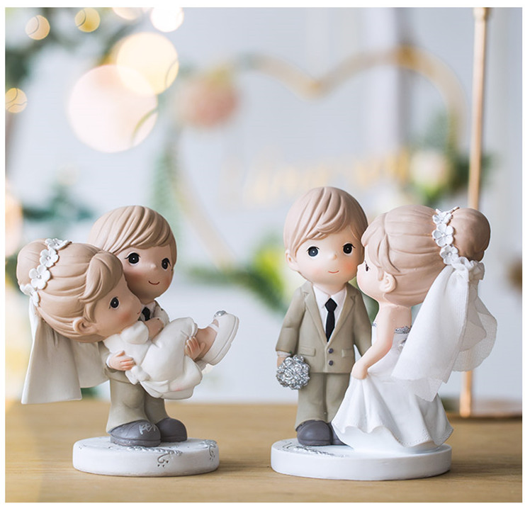 wedding : Mixed Style New Wedding Cake Topper Figurines Bride and Groom Cake Topper Cake Decorating Engagement   Wedding Gifts for wedding