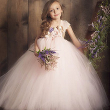 Flower Girl Lilacs Tutu Dress for Teenager Girl One Shoulder Lace Flowers Wedding Birthday Party Tulle Dress Kids Girl Clothes wholesale embroidered flowers girls dress kids clothes wedding dress girl flower belt party dress 12pcs lot free dhl ly9868