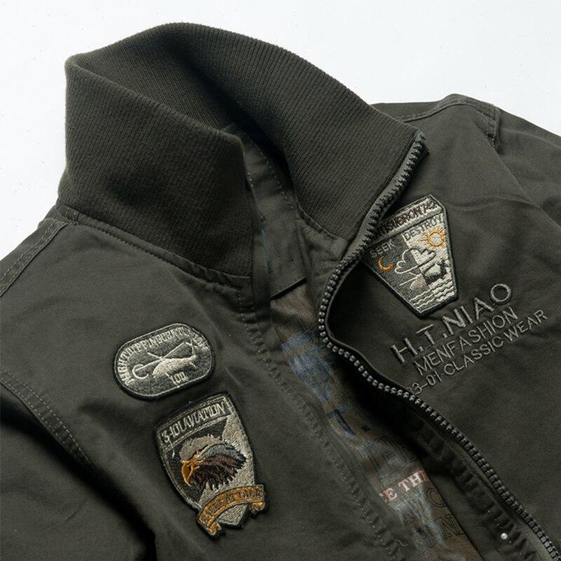 8203 Militar Más Air Algodón 100 Piloto Hombre Bordado Hombres 4xl Y Sin De Forro Chaqueta Abrigos Abrigo Badge Los Tamaño Chaquetas Force rp1qr