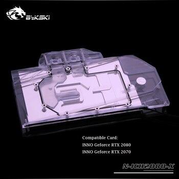 Bykski GPU cooler for INNO Geforce 2080 2070 Ice dragon Water cooling block Full Cover graphics card gpu water block N-ICH2080-X