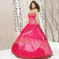 2015 Hot Pink Quinceanera Dresses vestido De baile Handmade Ruched Vestidos De 15 Anos tafetá doce 16 Vestidos baratos Quinceanera Vestidos