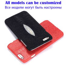 "Back Case For Asus Zenfone 2 ZE551ML 5.5"" Top Quality Luxury Pearl Fish Skin Genuine Leather Customize Mobile Phone Rear Cover"