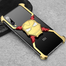 Iron Man Luxury Metal Case for Xiaomi Mi 9 Personality Bumper Shell Shockproof Drop Phone For mi