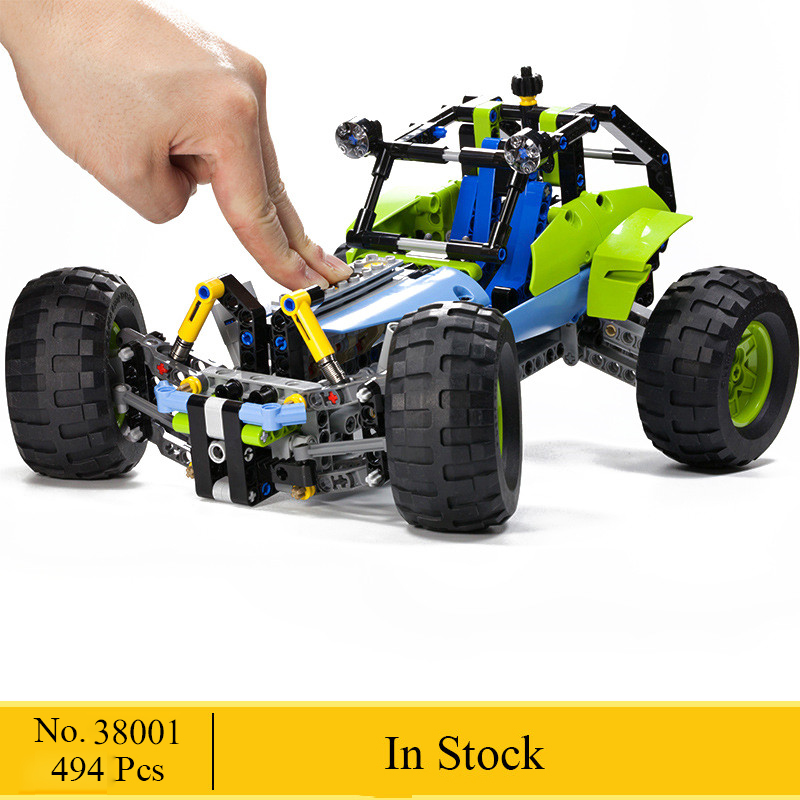 Compatible 42037 NEW 2 In 1 Technic Formula Off-Roader Racing Car Model Building Block Toys LELE 38001 DIY Gifts For Children цена