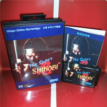 The Super Shinobi 1 Japan Cover with Box and Manual For Sega Megadrive Genesis Video Game Console 16 bit MD card