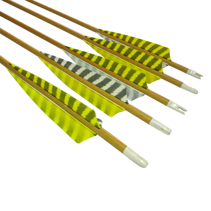 6 12Pcs Wood Camo Pure Carbon 30 Spine 500 Spine 600 Hunting Arrows With Strip Turkey