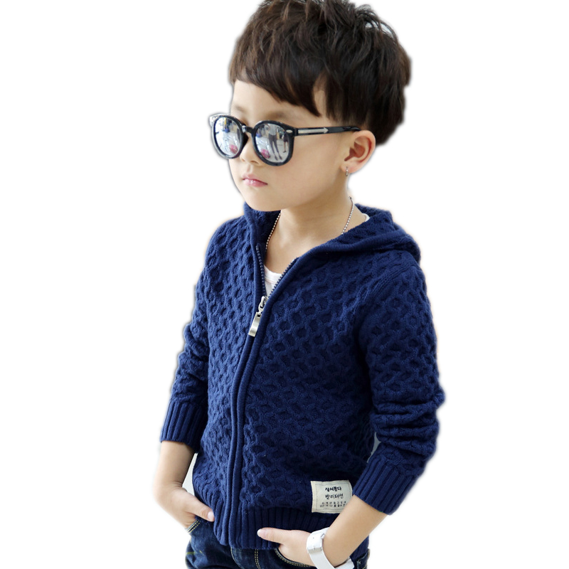 Baby Boy Bardigan 2017 New Spring Long Sleeve Kids Sweater For Boys Solid Hooded Boys Sweater Zipper Boys Cardigan Kids Jackets цена 2017