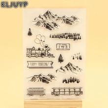 KLJUYP Happy Traveling Clear Stamps Scrapbook Paper Craft Clear stamp scrapbooking KL307
