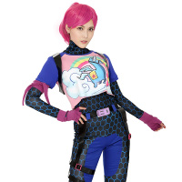 Brite Bomber Rainbow Horse Zentai Cosplay Halloween Costume Women Adult Shirt Pants