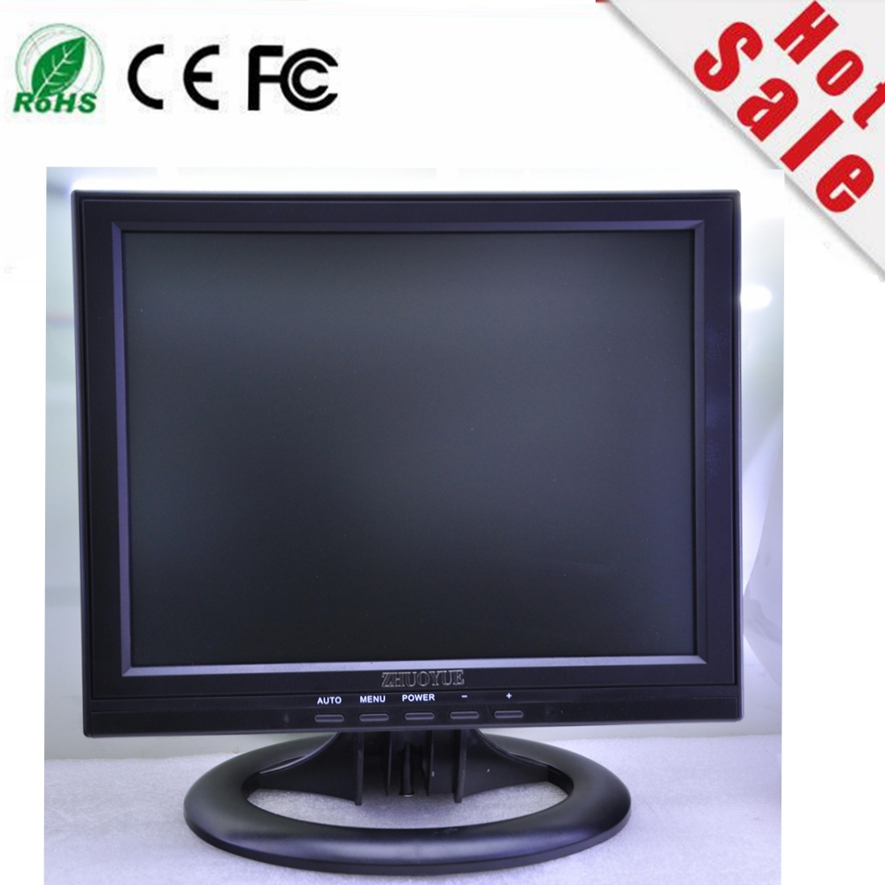 warranty 1 year new stock 12 inch 1024*768 VGA HDMI 3* BNC DC12V input CCTV monitor for CCD/COM COM camera