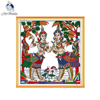 Joy Sunday Figure Style Thailand Dance Cross Stitch Patterns With Charts Kits Easy Counted Embroidery Online