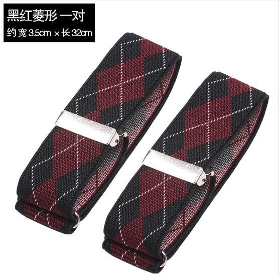 100 Pairs/lot Hemd Hülse Halter 3,5 Cm Mann Verstellbare Armband Elastische Arm Band Hochzeit Bräutigam Zubehör Arm Wärmer