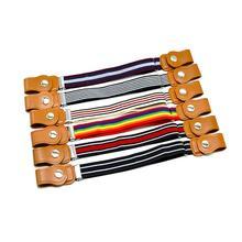 SANWOOD/Детский Эластичный пояс с пряжкой; эластичный пояс с регулируемой талией для мальчиков и девочек; Модные Полосатые Ремни;