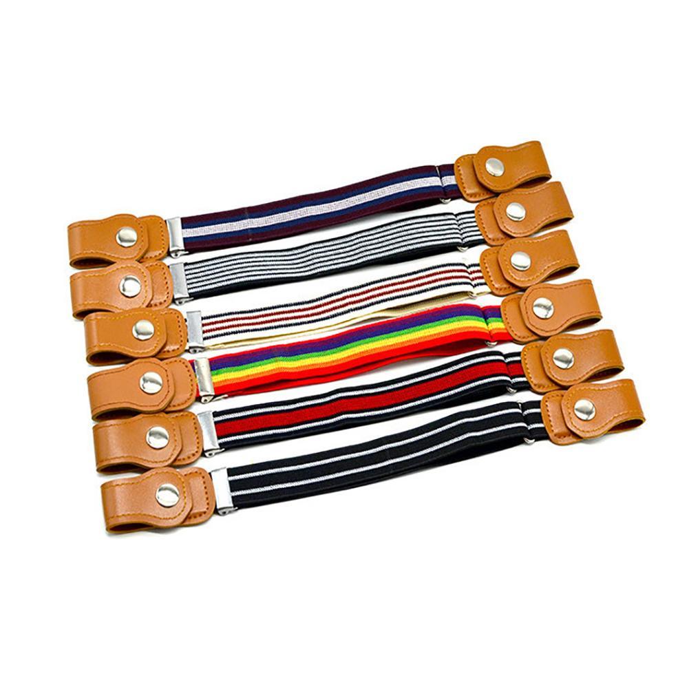 SANWOOD Children Kids Buckle Free Elastic   Belt   Stretch Waist Adjustable Waistband for Boy Girl Fashion Striped   Belts   2019