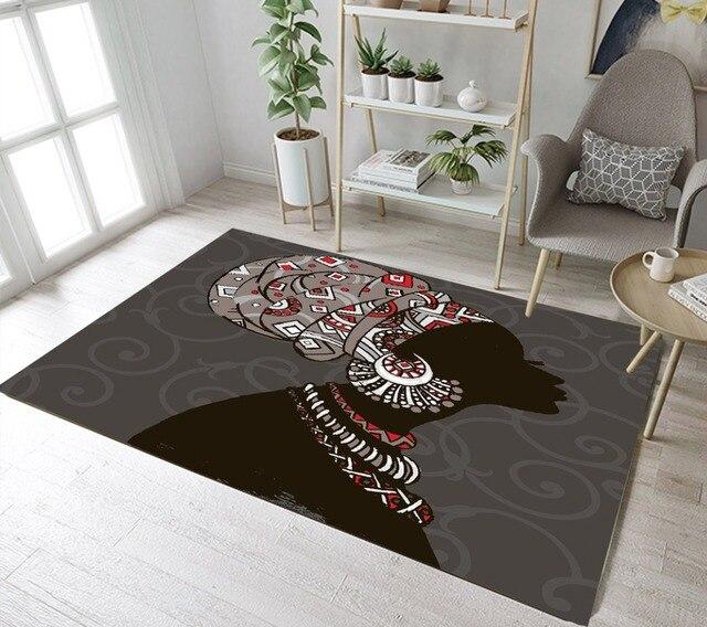 Lb African American Black Girl Women Area Boho Rug Bedroom Floor Mat
