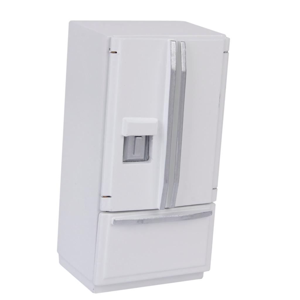 Miniature Kitchen Furniture Fridge Refrigerator Children Toys For 1:12 Dollhouse
