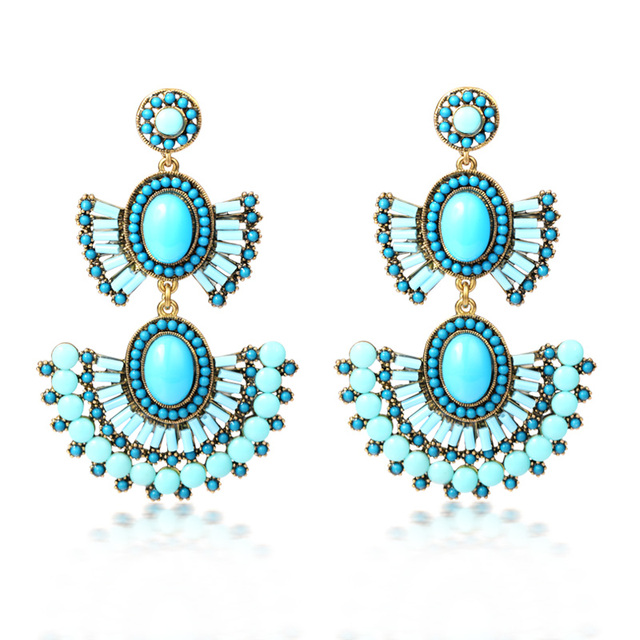 Free Shipping Bohemia Vintage Big Earrings National Style Fashion Drop Long Accessories Min Order $20