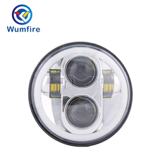 WUMFIRE 5.75 headlight motorcycle Accessories 5 3/4 lED For  5-3/4 Motorcycle Black Projector