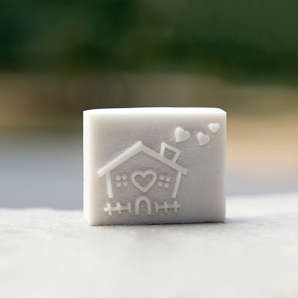 Handmade resin soap stamp custom DIY new resin seal Soap printed pattern cartoon house soap chapter
