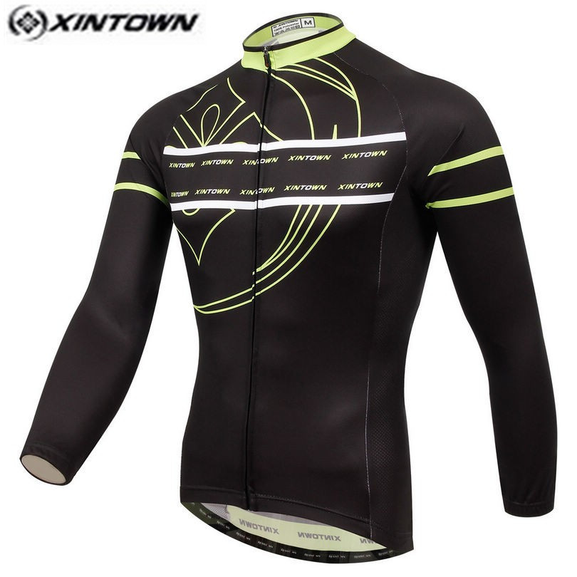 XINTOWN Men Bike Long jersey Black Pro Team Cycling clothing Riding Top Male MTB Ropa Ciclismo Wear Maillot Long Sleeve Shirts