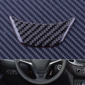 DWCX 1Pc Car Interior Steering Wheel Cover Trim Black Carbon Fiber Texture Fit for Chevrolet Equinox 2017 image