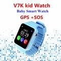 2017 NOVO GPS SmartWatch V7K bebê assistir com câmera Inteligente SOS Call Localização Rastreador Dispositivo Anti-Perdido Do Monitor PK Q90 Q80 Q100 Q750
