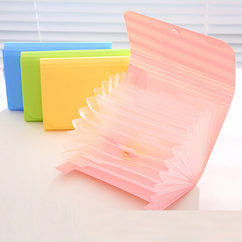 2pcs Multifunction A6 Accordion Style Bills Receipt File Document Bag Pouch Folder Card Holder Organizer File Holder 12 Layers