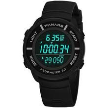 Outdoor Men Fashion Pedometer Calendar Stopwatch Waterproof Military Sports Electronics Wrist Watch Relojes стоимость