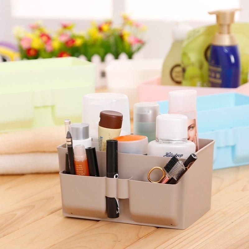 New Plastic Stationery Makeup Organizer Office Desktop storage box jewelry Remote Control box home decor