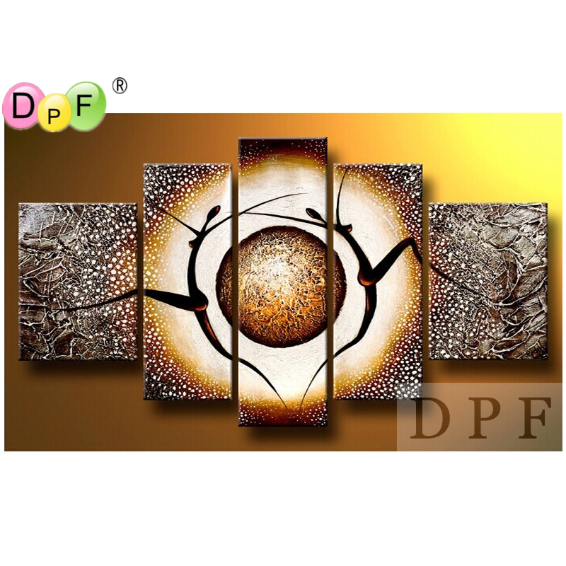 Abstract the human body Diy diamond embroidery painting square rhinestone Cross Stitch triptych home decor Kits