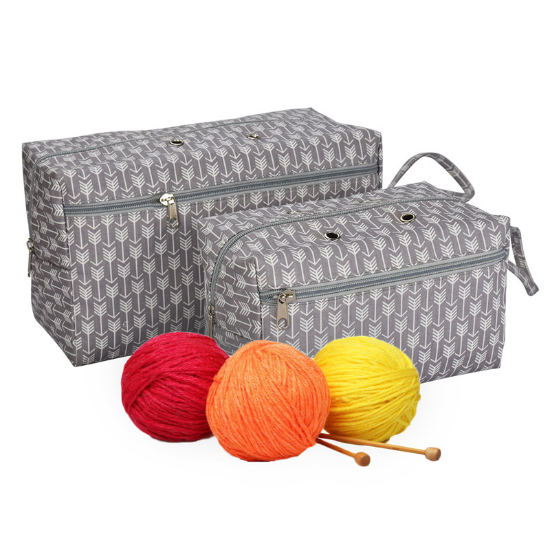 Women Tote Yarn Storage Bag Large Capacity Crochet Knitting Yarn Storage Organizer Bag Wool Ball Holder Tool Case Basket For Mom (2)