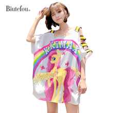 2019 Summer suspender dresses hollow out cartoon print sequined patchwork women chic mini