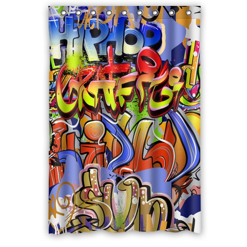 Online kaufen gro handel k hle graffiti bilder aus china - Coole duschvorha nge ...