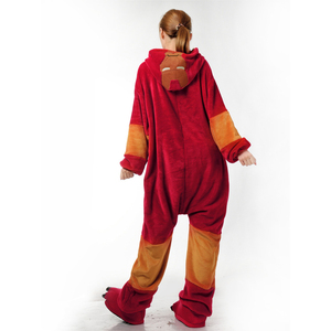 Image 3 - Flannel Kigurumi Adults Pajamas Women Men Pyjama Super hero Iron Superman Spiderman Batman Cosplay Onesies Anime Sleepwear