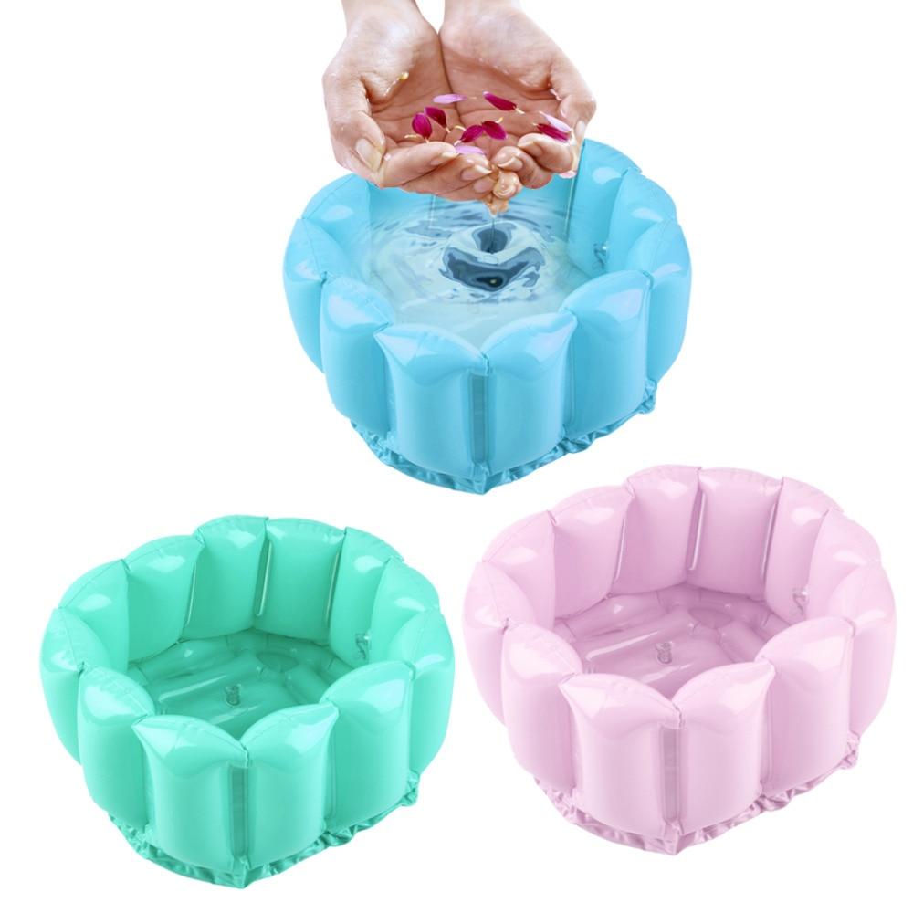 Foot Feet Soak Bath Inflatable Basin Wash Spa Home Use Pedicure Care Relax