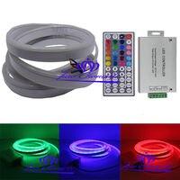 5050 80LED/M RGB Flex solf led neon şerit işık halat 12 V + 24A 44key RGB kontrolör