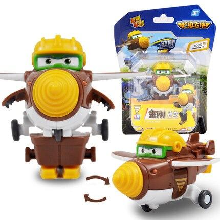 12 стилей, мини Супер Крылья, деформация, мини реактивный ABS робот, игрушка, фигурки, Супер крыло, трансформация, игрушки для детей, подарок - Цвет: With box Todd