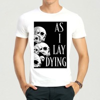 Mens & Womens Fashion Rose Als I Lay Dying T-Shirt Korte Wit Als I Lay Dying Shirt Top Tees