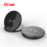 ICan New Arrival Wireless Charger For IPhone 8 8Plus X 10W Qi Fast Wireless Charging Pad