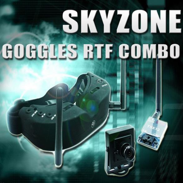 Skyzone FPV Goggles with TS832 5.8G 600mw 32CH VTX and 700TVL Camera FPV RTF Combo