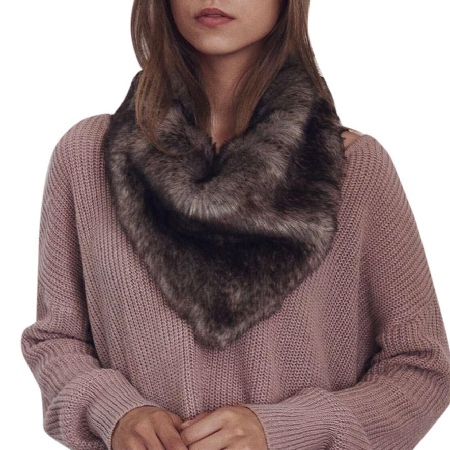 Mooistar #W003 New Ladies Womens Scarf Scarves Warm Faux Fur Shawl Winter Parka Wrap Collar