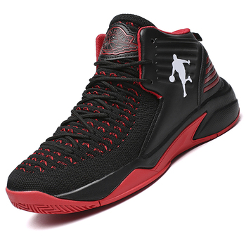 Breathable Basketball Shoes Men Air Mesh Outdoor Sport Cushion Sneakers High Top Athletic Lace Up Trainers Ankle Boot Baloncesto