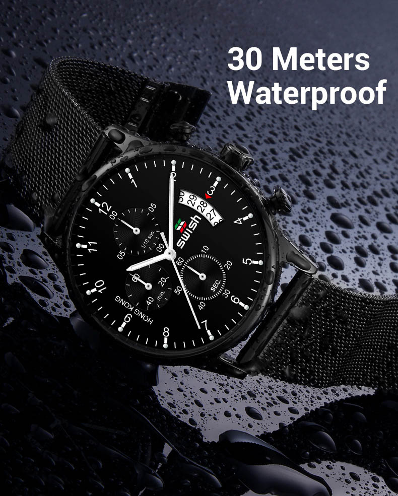 Branded Waterproof Watch - MiraShop