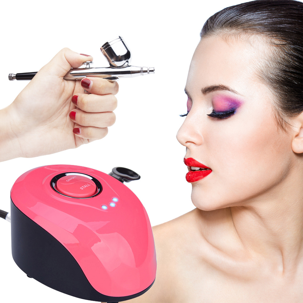 Image 3 - Nail Airbrush Kit Compressor Portable 0.2mm Nail Airbrush Tattoo Make Up 3 Speeds Modes Tool For Nail Art Tools-in Nail Art Equipment from Beauty & Health